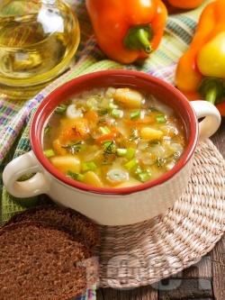 Зеленчукова супа с целина, пресен лук и карфиол - снимка на рецептата